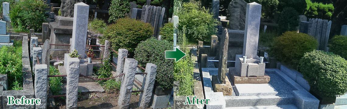 お墓のリフォーム事例