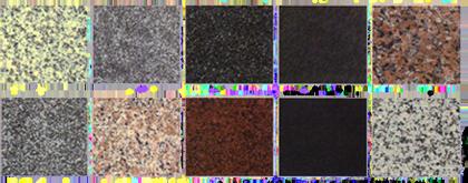 多彩な種類の御影石